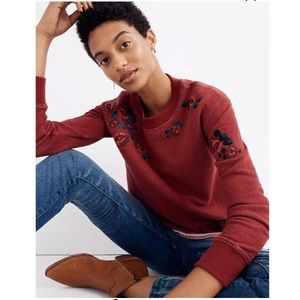 Miles by Madewell - Embroidered Cutoff Sweatshirt